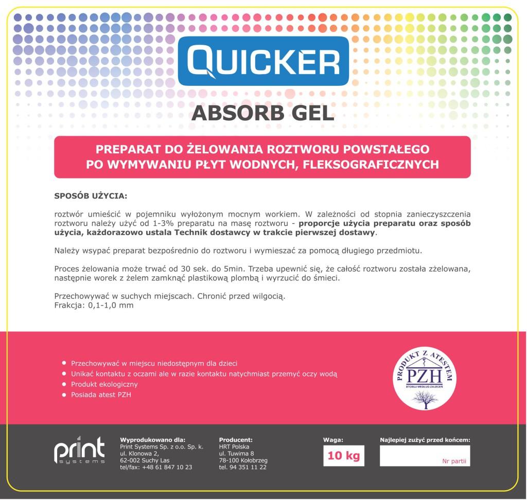 Chemia do druku fleksograficznego - preparat do żelowania roztworu powstałego po wymywaniu płyt wodnych, fleksograficznych