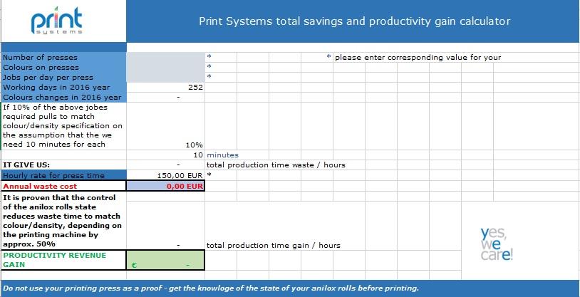 Total savings and productivity gain calculator_PrintSystems