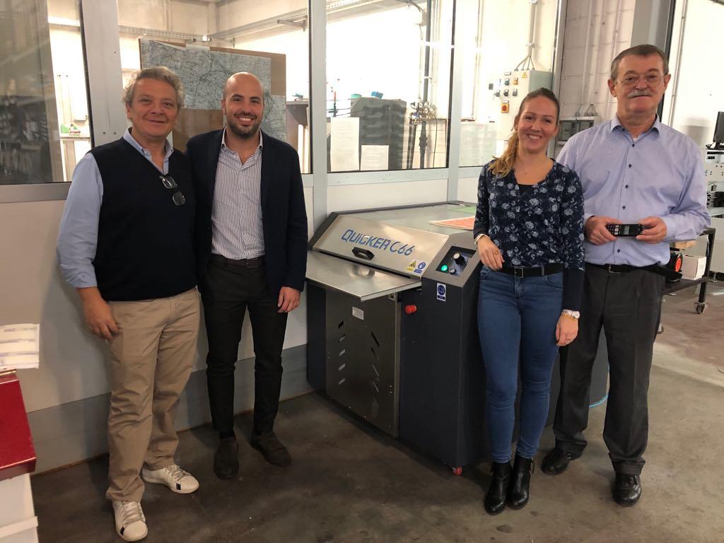 Włoska drukarnia już myje płyty naszym QUICKER C66